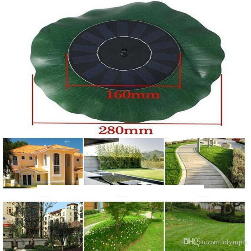 2018 Solar Water Pump Floating Waterpomp Panel Kit Fountain Pool Pump Kit Lotus Leaf Floating Pond Watering Submersible Garden Water Pump