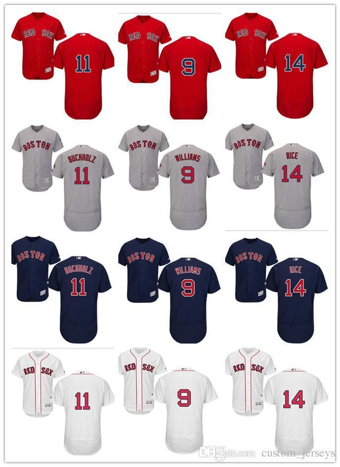 585d1f1c 2019 Custom Men Women Youth Majestic Red Sox Jersey #9 Ted Williams 11 Clay  Buchholz 14 Jim Rice Home Blue Red Baseball Jerseys From New_jersey_store,  ...
