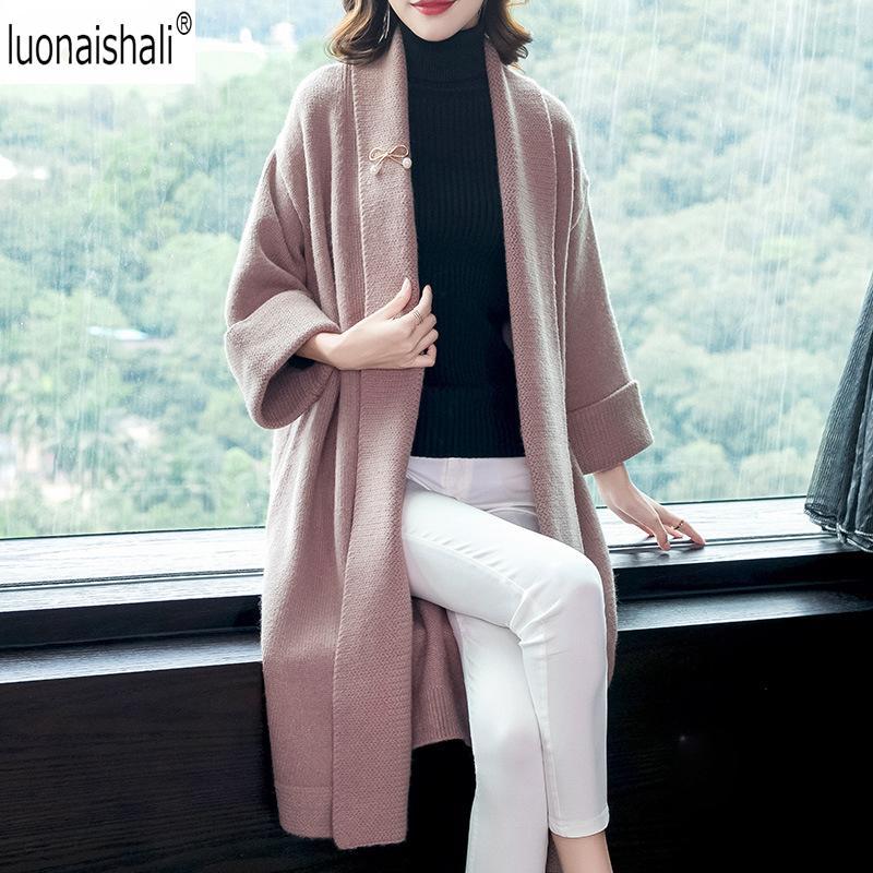 купить оптом мода кашемир вязаное пальто женщин зимнее пальто новый