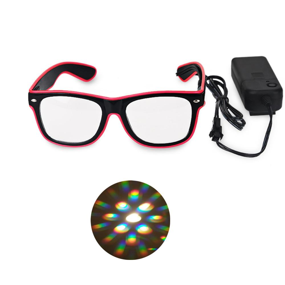 Flashing El Wire Led Glasses Party Supplies,El Wire Diffraction ...