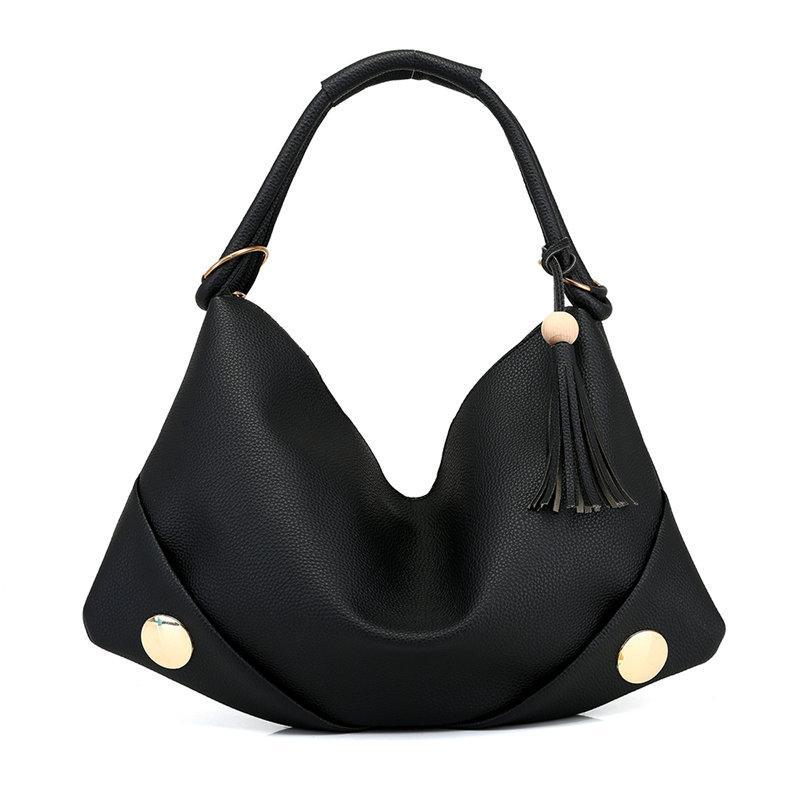 55140a51179 Tassel Women Shoulder Bag Female Hobos Bags High Quality Litchi PU ...