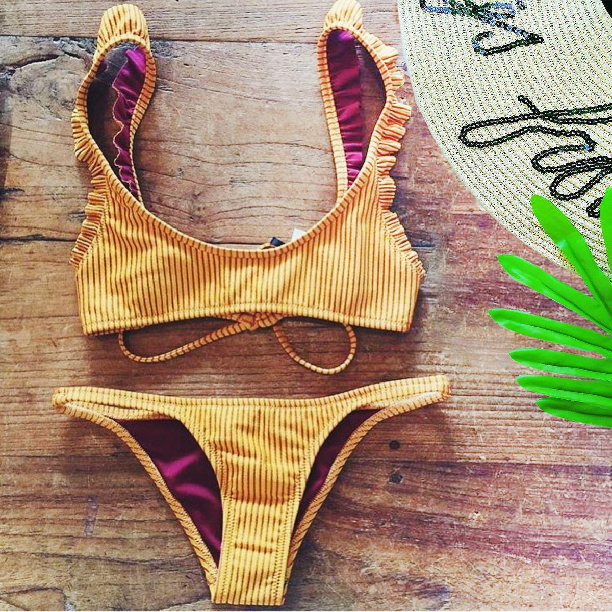 d97838475 Brazilian Swimming Suits Women Striped High Cut Bikinis Sexy ...