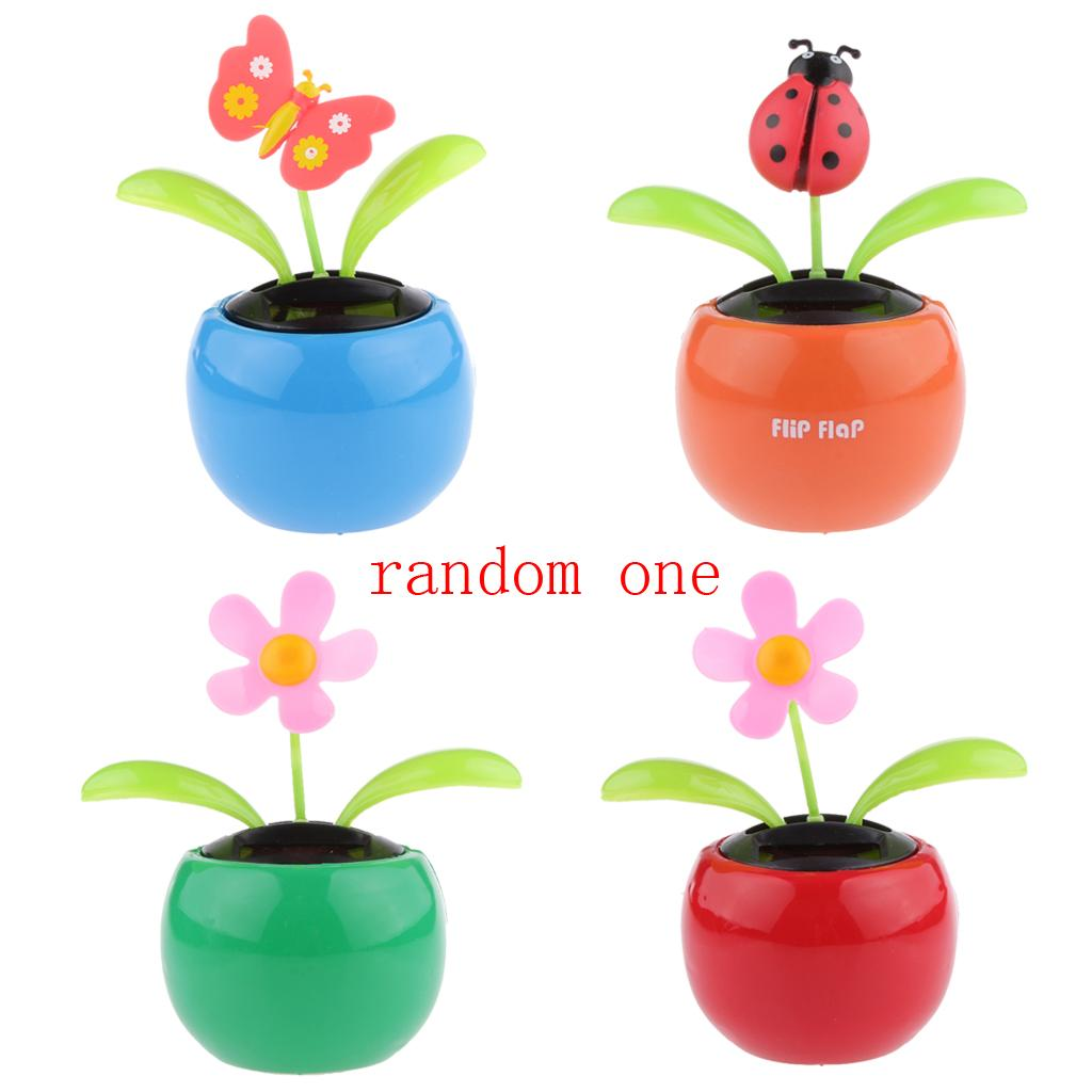 ebe176520 Wholesale Random Type Solar Powered Dancing Toy Flowerpot Shaking Toy ABS  Resin Flip Flap Kids Gift For Child Home Desk Car Decoration Solar Windmill  Toy ...