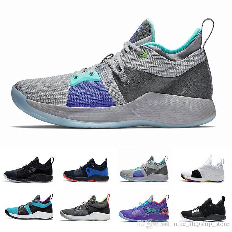 2b3d85409b6 Acquista 2018 Estate Paul George 2 PG II Mens Scarpe Da Basket PG2 2S  Stellato Blu Arancione All White Nero Sport Sneakers Scarpe Taglia 40 46 A   100.51 Dal ...