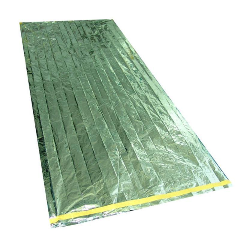 Sleeping Bags 1*2m Good Deal Reusable Emergency Waterproof Survival Silver Foil Camping Sleeping Bag