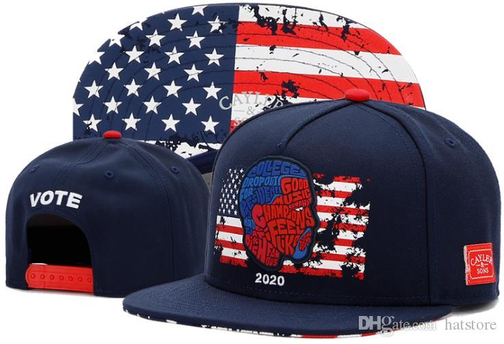 1463a4aaf36 2018 New Style Summer Hats Cayler   Sons 2020 VOTE Snapback Hats Many High  Quality Mens Brands Snapbacks Cheap Leisure Fashion TYMYY 566 Custom Fitted  Hats ...