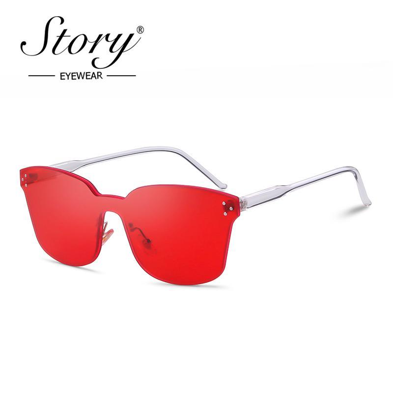 07efb0f3f9 STORY Fashion Cat Eye Sunglasses Women 2019 Luxury Brand Designer ...