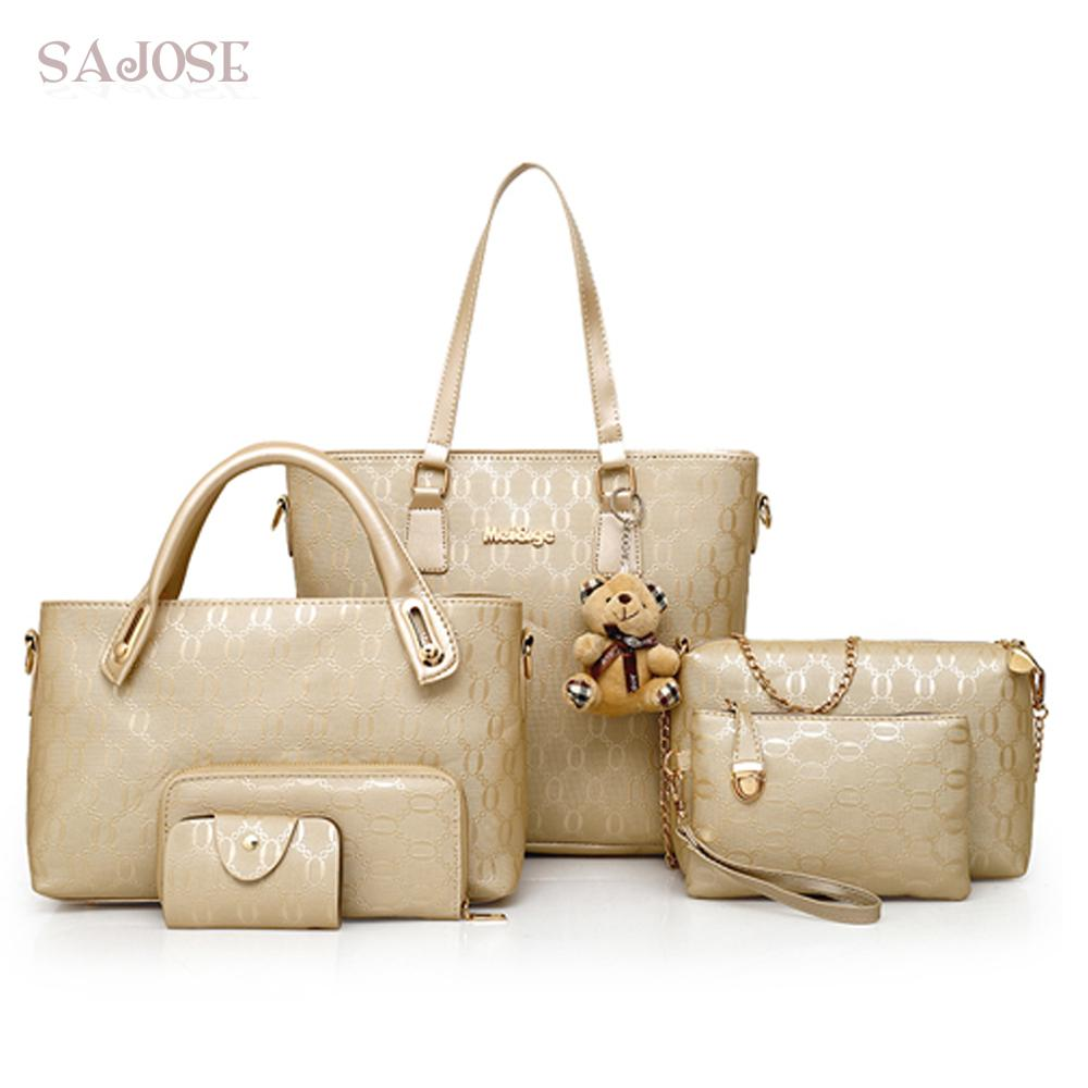 3929e9dcf9f34 Women Handbag Printing Composite Bag Casual Female Messenger Bags Brand Shoulder  Bag Purse Wallet Leather Crossbody Hobo Handbags Red Handbags From ...