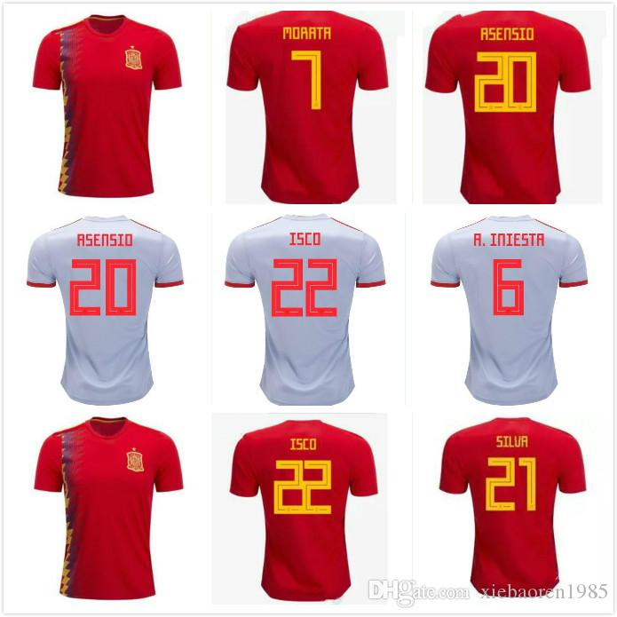 ba534625e 2019 Spain Soccer Jerseys 2018 2019 S 4XL World Cup Spain Russia Football  Shirt Perfect Quality Kit Camiseta Selección Española From Xiebaoren1985