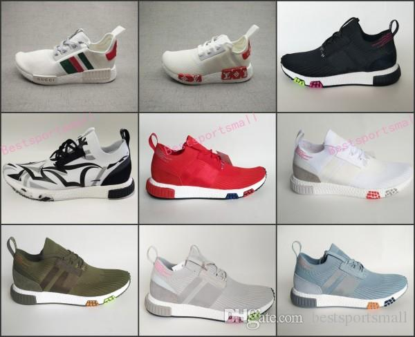 new style 7bde8 b022c 2018 New NMD_Racer Spring R3 NMD Racer Primeknit Consortium X JUICE Runner  3.0 Sneaker Women Men R1 Rainbow Sport Shoes 36-45