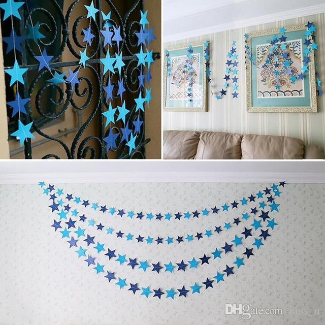 400cm Wall Hangings Decoration Star Card Paper Banner Wedding Party  Festival Decoration Handmade Children Room Decor Wedding Decorations  Supplies Western ...