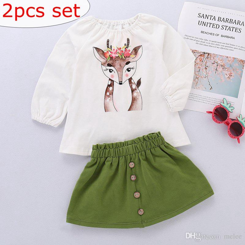 fc9b7c4e90da 2019 XMAS Toddler Baby Girls Deer Cartoon Stylish And Fashion Design ...