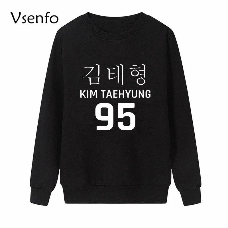 Großhandel Vsenfo Bt21 Kim Taehyung Bts Kpop Crewneck Sweatshirt Frauen  Mode Harajuku Koreanische Hoodies Pullover Frauenkleidung Moletom Bts Von  Vikey16, ... 01fb2356a9