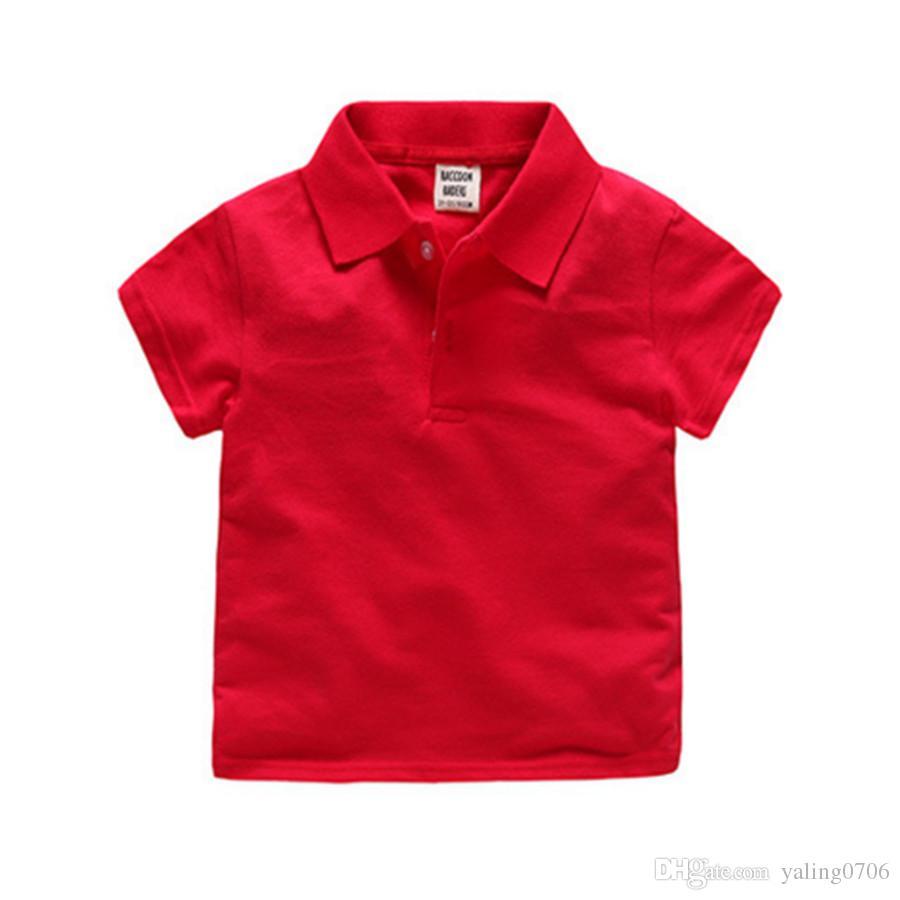 Heiße Jungen Polo Shirt Kurzarm 2018 Sommer Neue Ankunft Jungen Kleidung Kinder Polo Größe 2-6Y Kinder Kleidung Jungen Polos Top