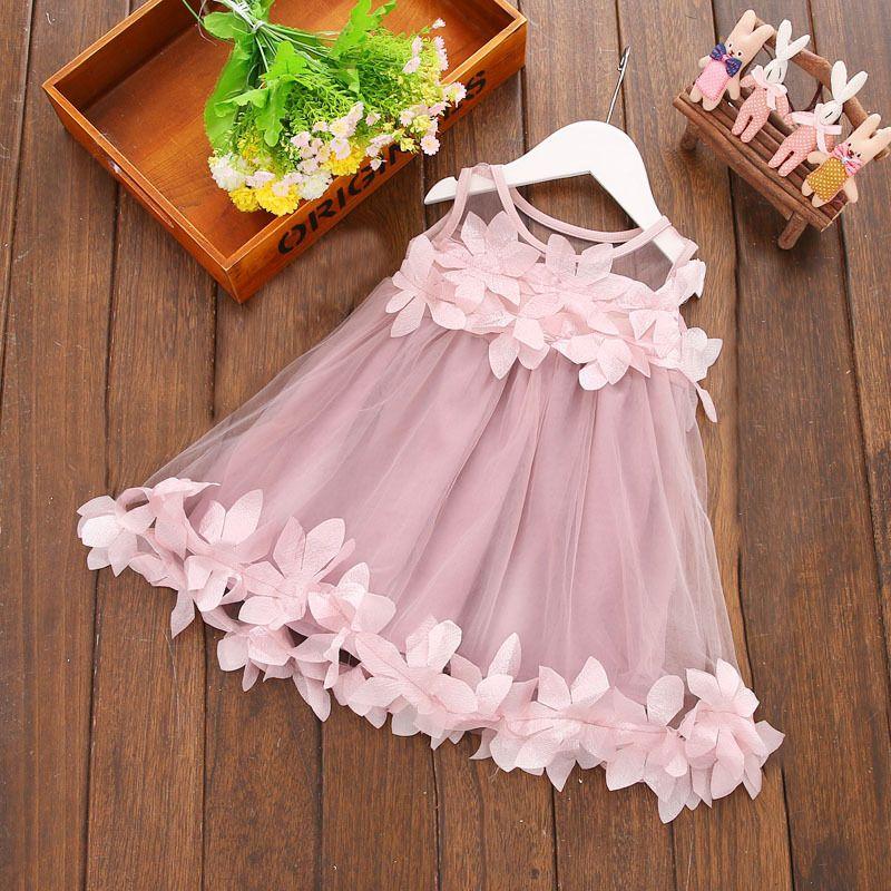 5553a60f55a0e Children Girls Summer Dresses Newborn Infant Baby Kids Girls Princess Dress  Party Gown Casual Dresses 0-3Y Hot