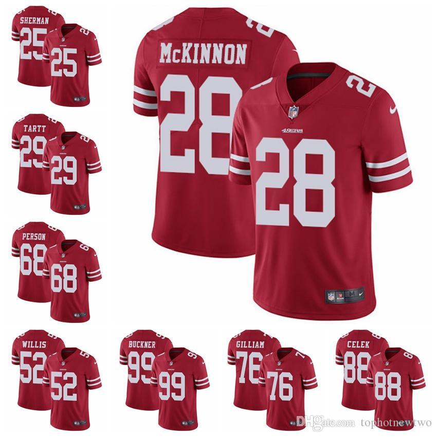 14f463a6a 2019 San Francisco Limited Home Football Jersey 49er Red Vapor Untouchable  10 Jimmy Garoppolo 16 Joe Montana 25 Richard Sherman From Jerseyptb9