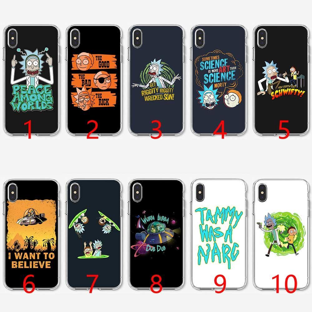 9de57333ef5 Accesorios Para Moviles Divertidos Dibujos Animados Comic Meme Rick Y Morty  Funda De Teléfono De Silicona Suave TPU Para IPhone 5 5S SE 6 6S 7 8 Plus X  XR ...