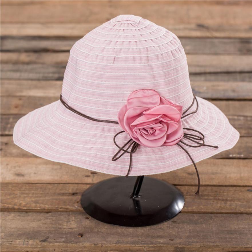 2019 FishSunDay Outdoor Sports Activities Caps For Summer Girl Women Wide  Brim Beach Sun Hat Elegant Flower Boho Cap 0709 From Lvmangguo 02116a97df1a