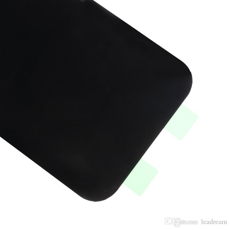 الأصلي باب البطارية الغطاء الخلفي الزجاج الإسكان الغطاء لسامسونج غالاكسي A3 2017 A320 A520 A5 2017 A7 2017 A720 مع لاصق ملصق