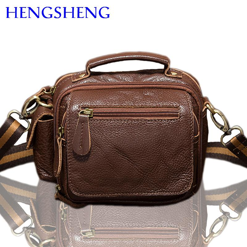 f4a27d27d9 Hengsheng Hot Selling Genuine Leather Men Waist Pack With High Quality Cow  Leather Men Waist Bags Of Vintage Gentlemen Bag Lunch Bags For Women Cool  Bags ...