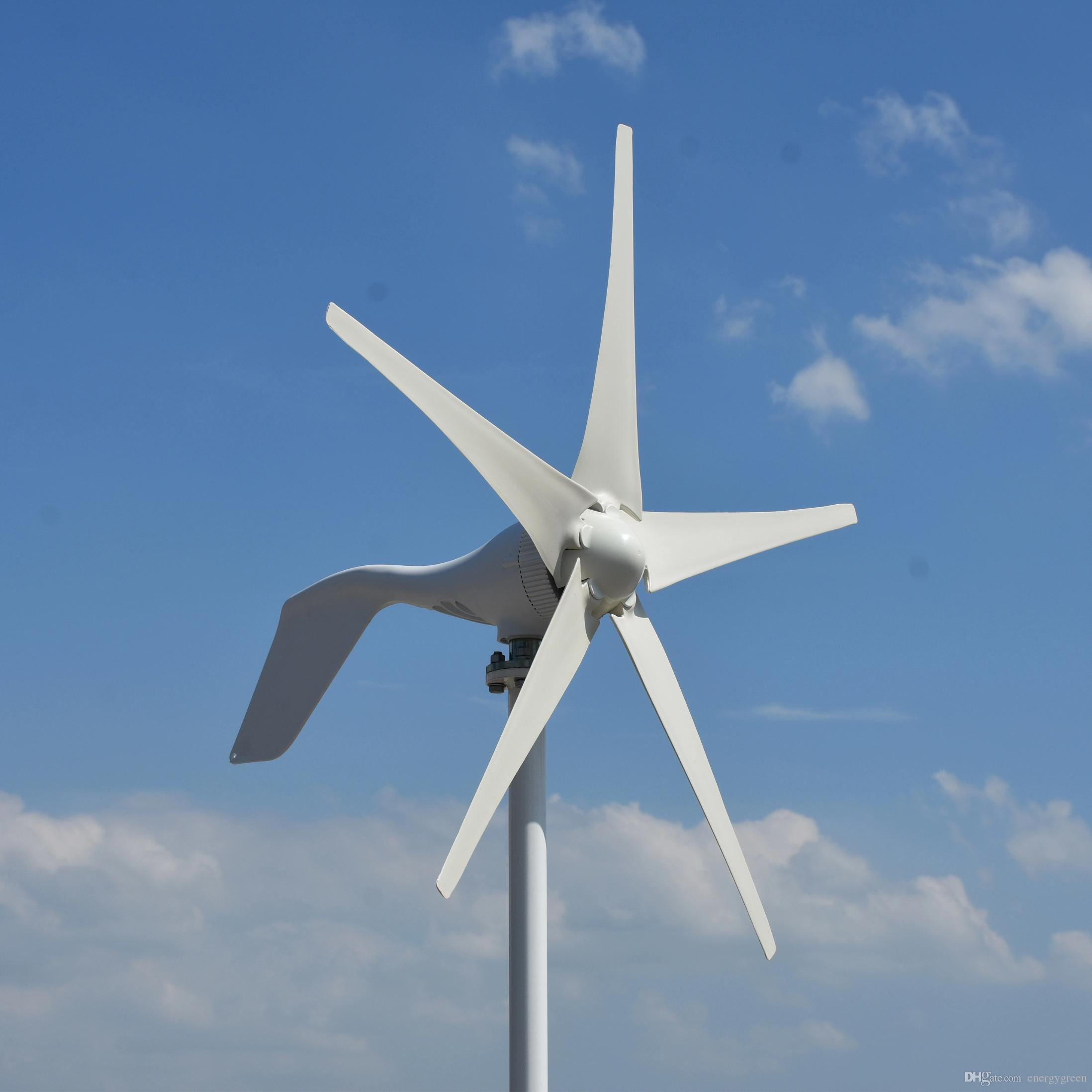 400W 12V/24V small horizontal home wind turbine generator with MPPT boost  controller for home use