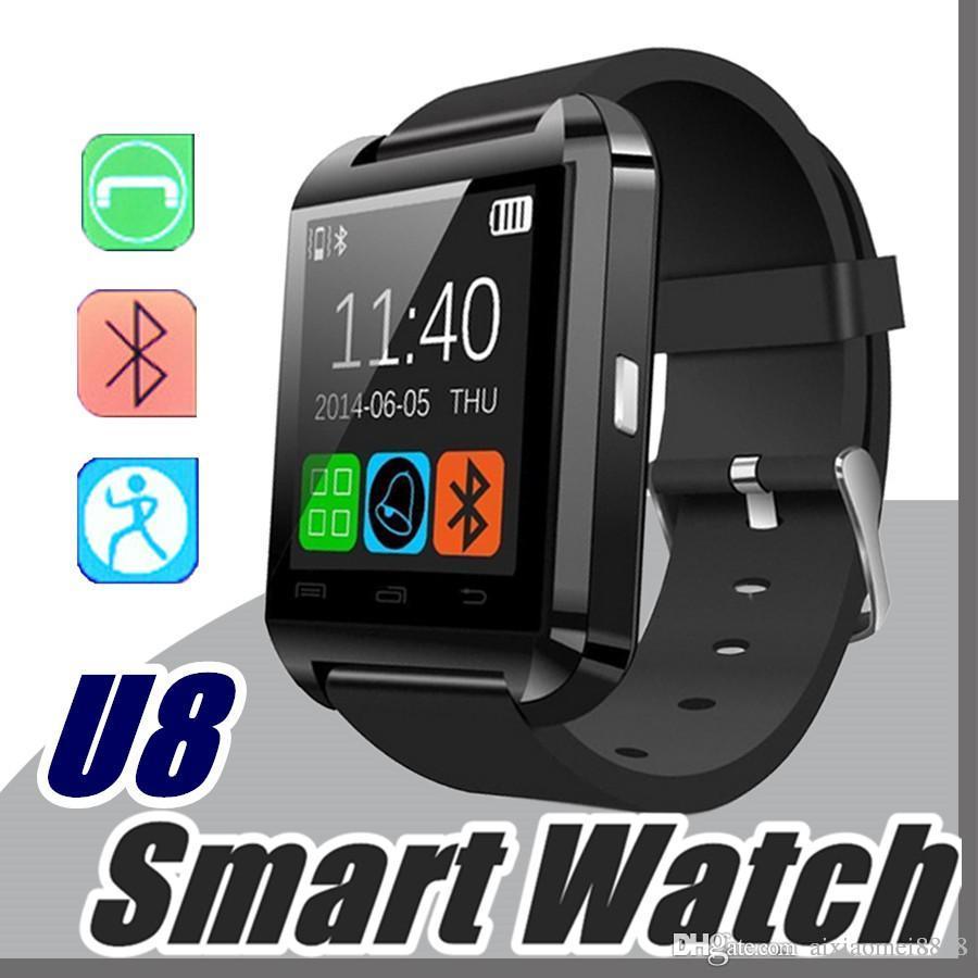 Умные Часы Топ 10X Оптовый Дешевый U8 Smartwatch U8 Bluetooth Smart Watch  Phone Mate Для Android IOS Iphone Samsung LG Sony С Напоминанием О Вызове A  BS ... 3299db010678b
