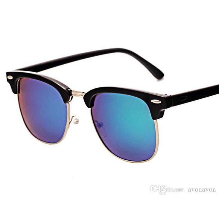 3a13ba568ad 2018 Polarized Sunglasses For Men Women 3016 Classic Semi Rimless Fashion  Design Driving Glasses Polaroid Lens A467 Eyeglass Frame Sizes Eyeglass  Frames For ...