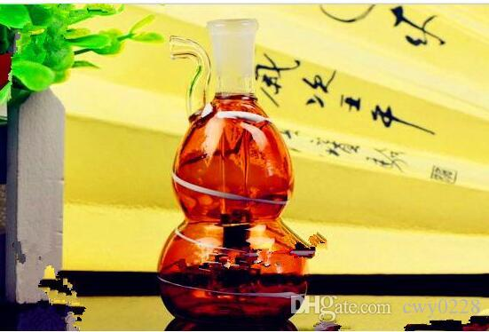 Color stripe snuff pot of water hyacinth Wholesale Glass bongs Oil Burner Glass Water Pipes Oil Rigs Smoking Free
