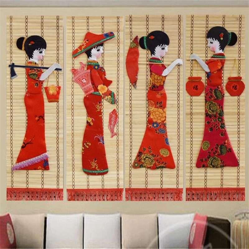 Arte de pano sem moldura clássica, lona, tela e murais