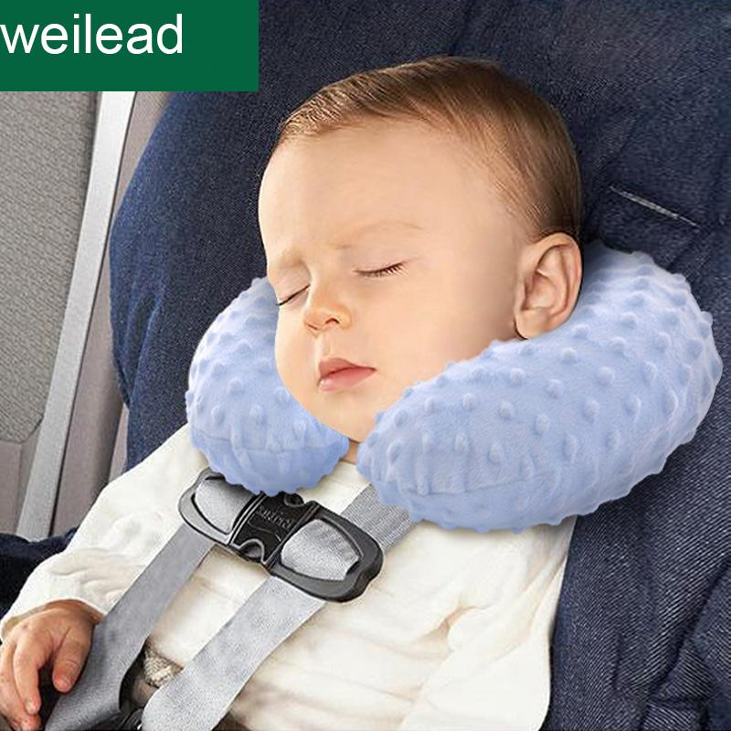 Kids Car Pillow Inflation Headrest For Baby Seat Travel Pillows Newborn U Shape Infant Safety Bedding Sleep Red Throw From