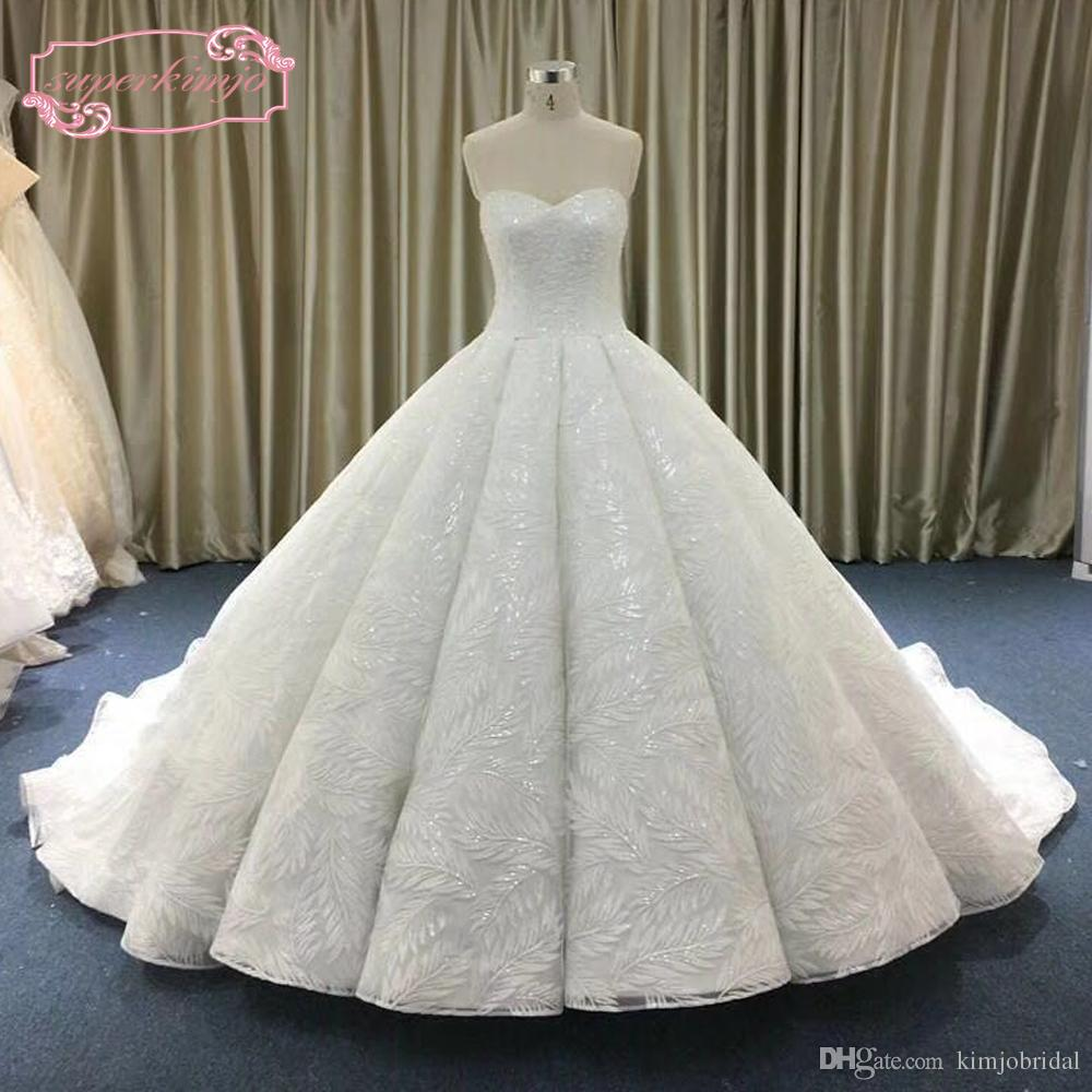 Wedding Ball Gowns Sweetheart Neckline: 2018 Ball Gown Wedding Dresses Real 2018 Sweetheart