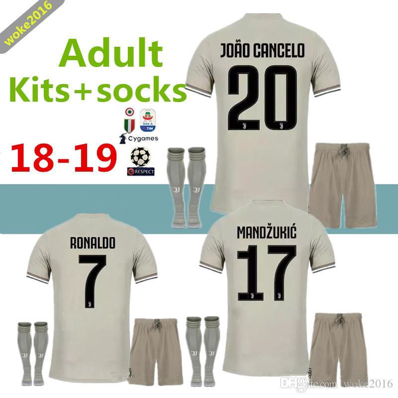 68e8df3b29d New 18 19 Away DYBALA Ronaldo D.COSTA Jersey Suit + Socks HIGUAIN ...
