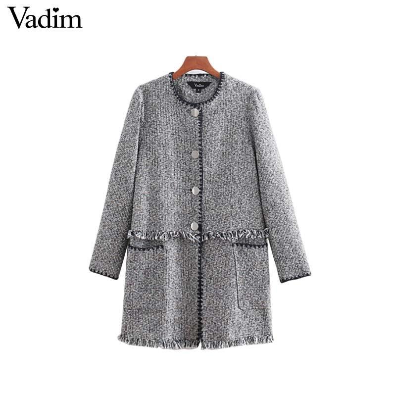 Vintage Carreaux À Acheter Femmes Gland Tweed Manteau Veste Vadim qTxYTpXE