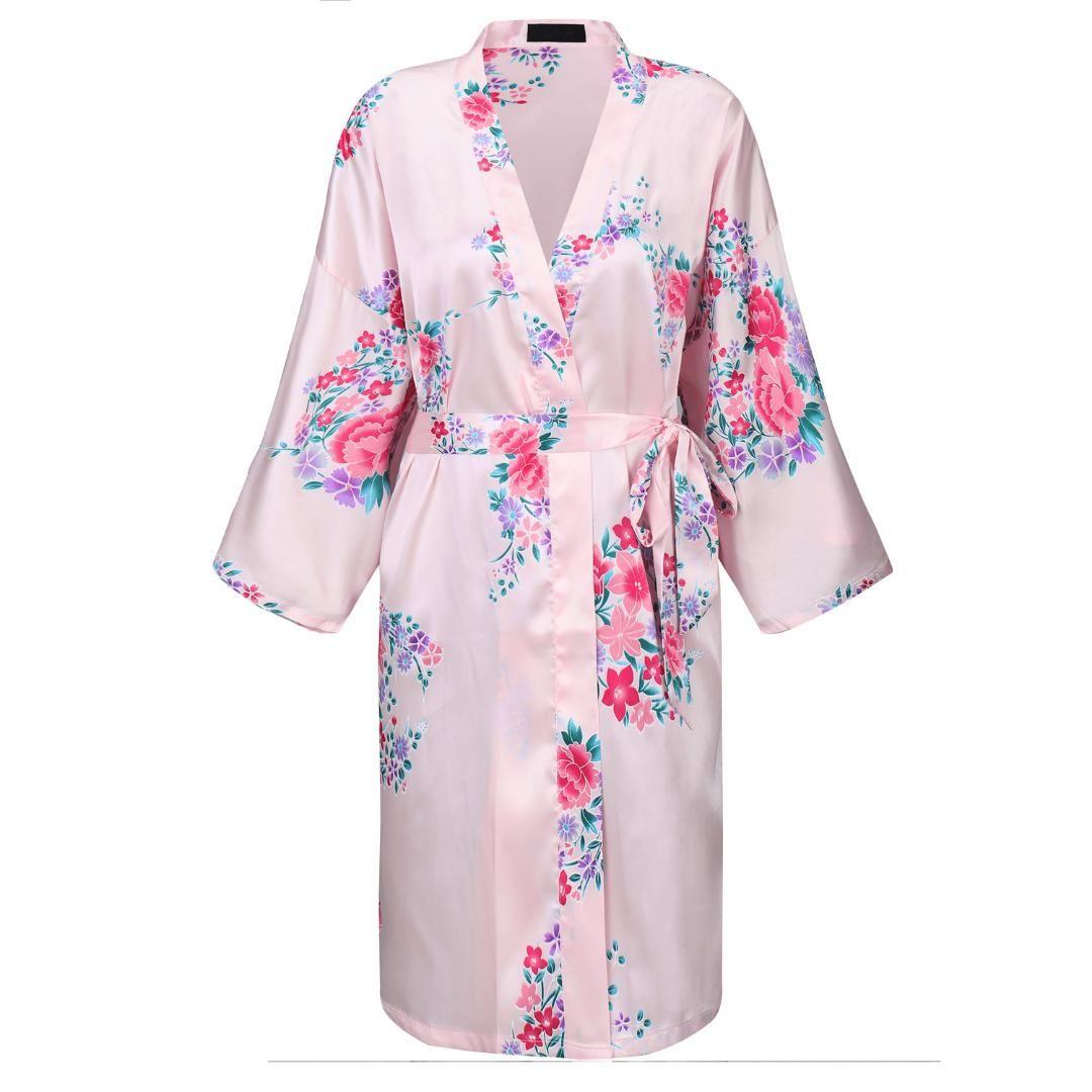 41bb90a70b2f 2019 Rayon Robe Gown Kimono Bathrobe Sexy Lady Sleepwear Nightdress Lounge  Nightgown Print Floral Night Dress Nightwear Home Wear From Smotthwatch