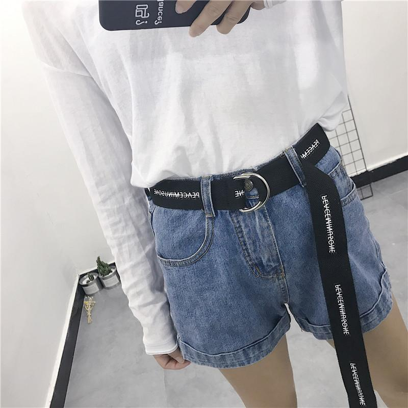 130 Cm Long Big Size Harajuku Casual Neutral New Nylon Canvas Belt Printing D  Ring Double Buckle Student Belt Black Riggers Belt Plus Size Belts From  Buafy b9b2a92792b