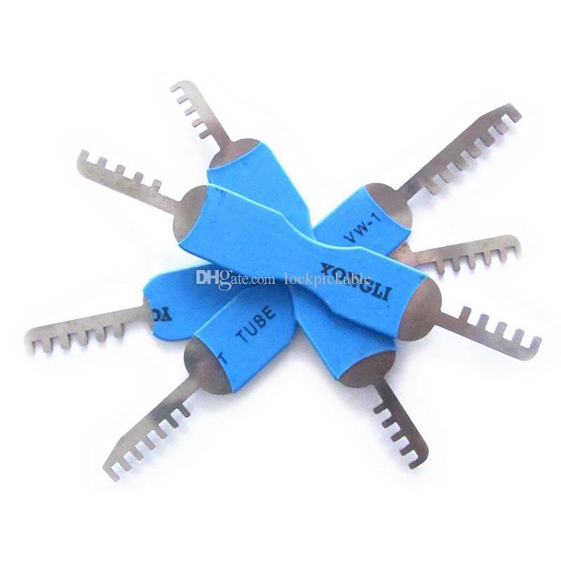KLOM 4-Piece Comb Padlock Picks - Qualified Comb Lock Pick Set for Pin-Tumbler Locks - KLOM Comb Picks for Sale