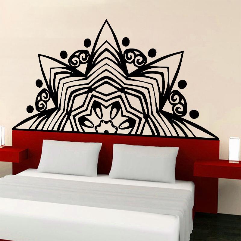Creative Lotus Wall Yoga Studio Mural Vinyl Decal Mandala Mehndi