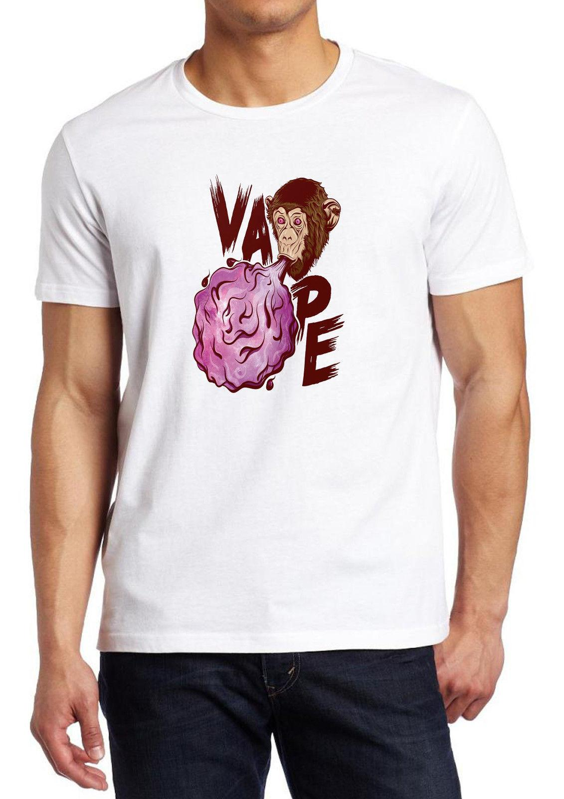 7d8d4d8f40d0e Compre Vaper Vape Nation Life 420 Go Green Coil Drip Monkey Fruit Of The Loom  Camiseta A  11.01 Del Bstdhgate