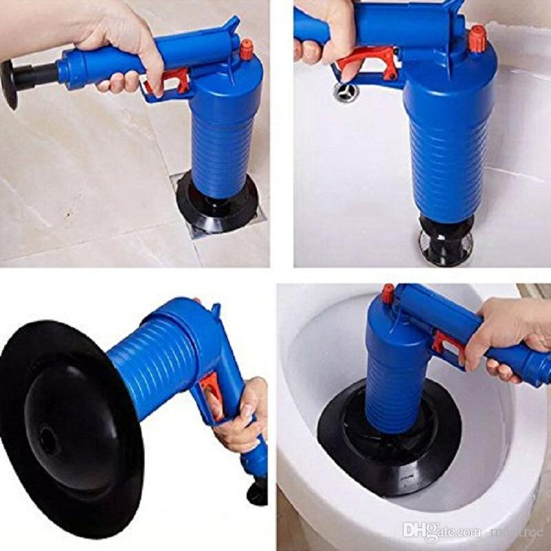 Air Power Drain Blaster Pressure Pump Cleaner Unclogs Toilet Hand Powered  Plunge Suite For Dredging Home Toilet Bathtub Sink