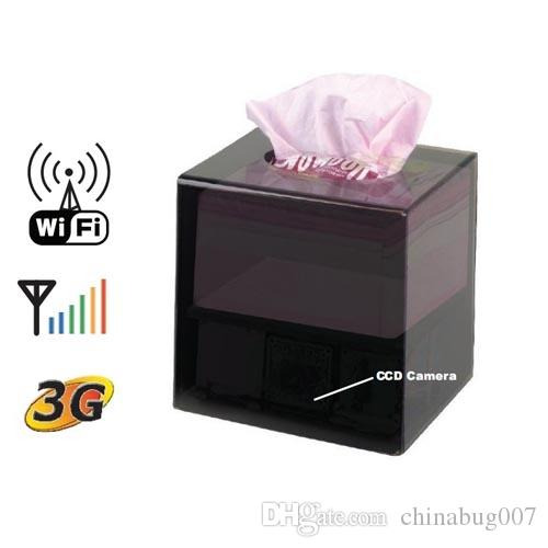 H.264 Wifi IP Camera Tissue Box Covert DVR Camera Video With Motion Detection Function
