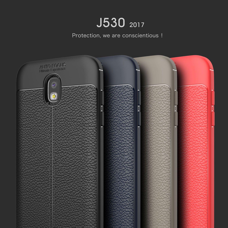 Sağlam Zırh Vaka Samsung Galaxy Için A3 A5 A7 2017 J3 J5 J7 2017 J3 PRO J7 PRO Anti Şok Emme Deri Litchi desen 300 adet