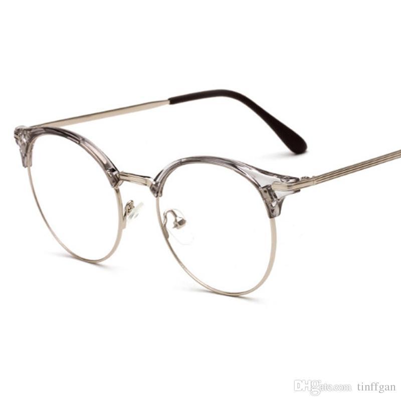 52c2521f0136 2018 New TR90 + Metal Anti Radiation Coating Lens Eyeglasses Frames Men Women  Optical Plain Mirror Eye Glasses Frame For Myopia Glasses Eyeglass Frames  For ...