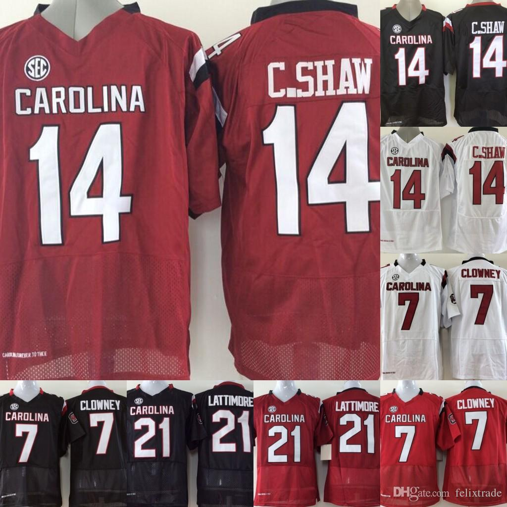 finest selection fa294 6fb9e Jersey Football Gamecock 21 Youth 7 Clowney Marcus 14 South ...