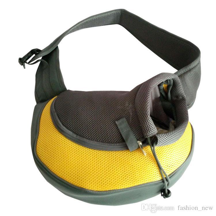 جديد محدث تنفس كلب الناقل سفر حمل واحد أكتاف حقائب كلب القط جرو الناقل الأمامي شبكة الراحة حقيبة سفر حبال