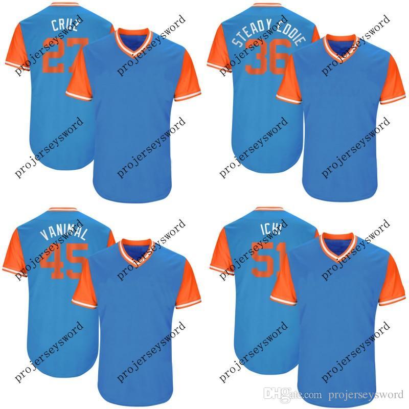 brand new 28d95 7e6b4 Miami 51 Ichiro Suzuki Ichi 39 JT Riddle T 45 Vance Worley Vanimal 62 Jose  Urena El Nueve 2017 Players Weekend Baseball Jerseys
