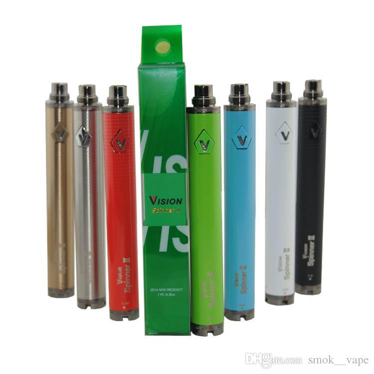 Vision spinner 2 II 1600mah Ego C twist Vision2 Battery E Cigs Electronic Cigarettes eGo atomizer Clearomizer Colorful Retail Package DHL