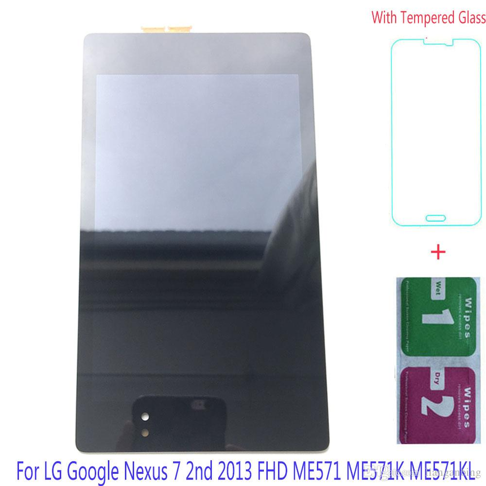 NUEVA pantalla LCD Pantalla táctil de reemplazo Paneles digitalizadores con ensamblaje para LG Google Nexus 7 2do 2013 FHD ME571 ME571K Negro DHL logística