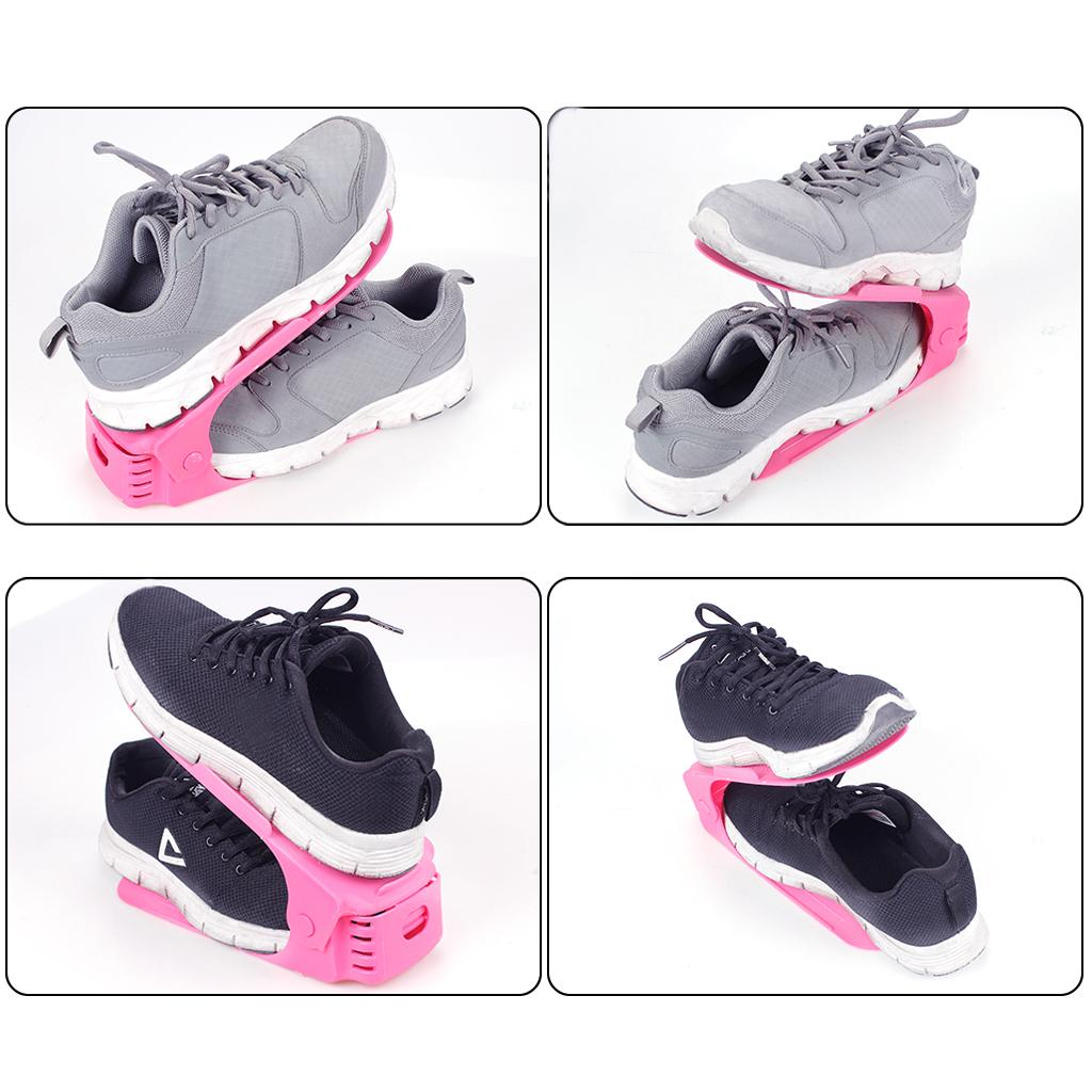 Организатор стойки для обуви регулируемый двухслойный держатель для хранения обуви розовый или черный цвет для мужчин или женщин дети и старые