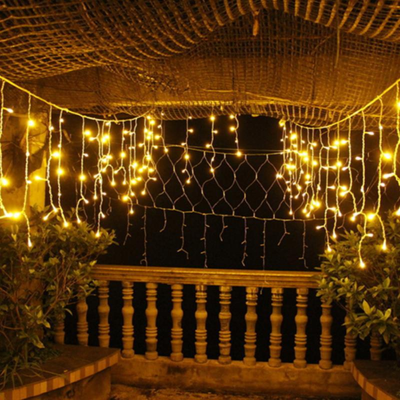 Connectable 10m 6W Led Curtain Icicle String Lights Led Fairy Lights  Christmas Lamps Icicle Wedding Party Decoration Clear Globe String Lights  String Bulb ... - Connectable 10m 6W Led Curtain Icicle String Lights Led Fairy Lights
