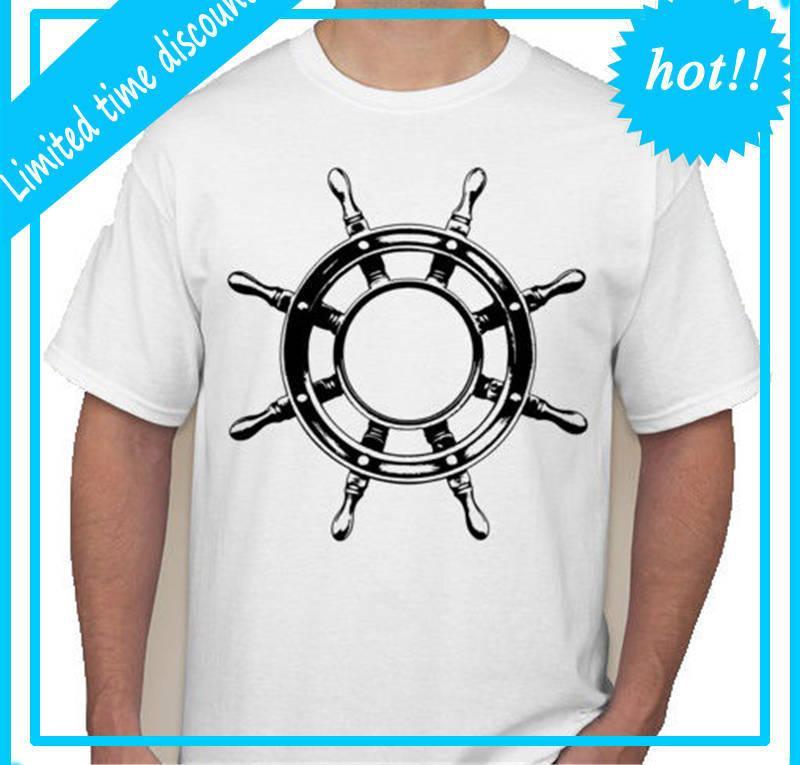 27c438136e6 3D T Shirt Plus Size Cotton Tops Tee Crew Neck Boat Wheel Ship Pirate Sail  Cotton Short Sleeve Shirts For Men T Shirts for Men Custom Design T Shirts  ...
